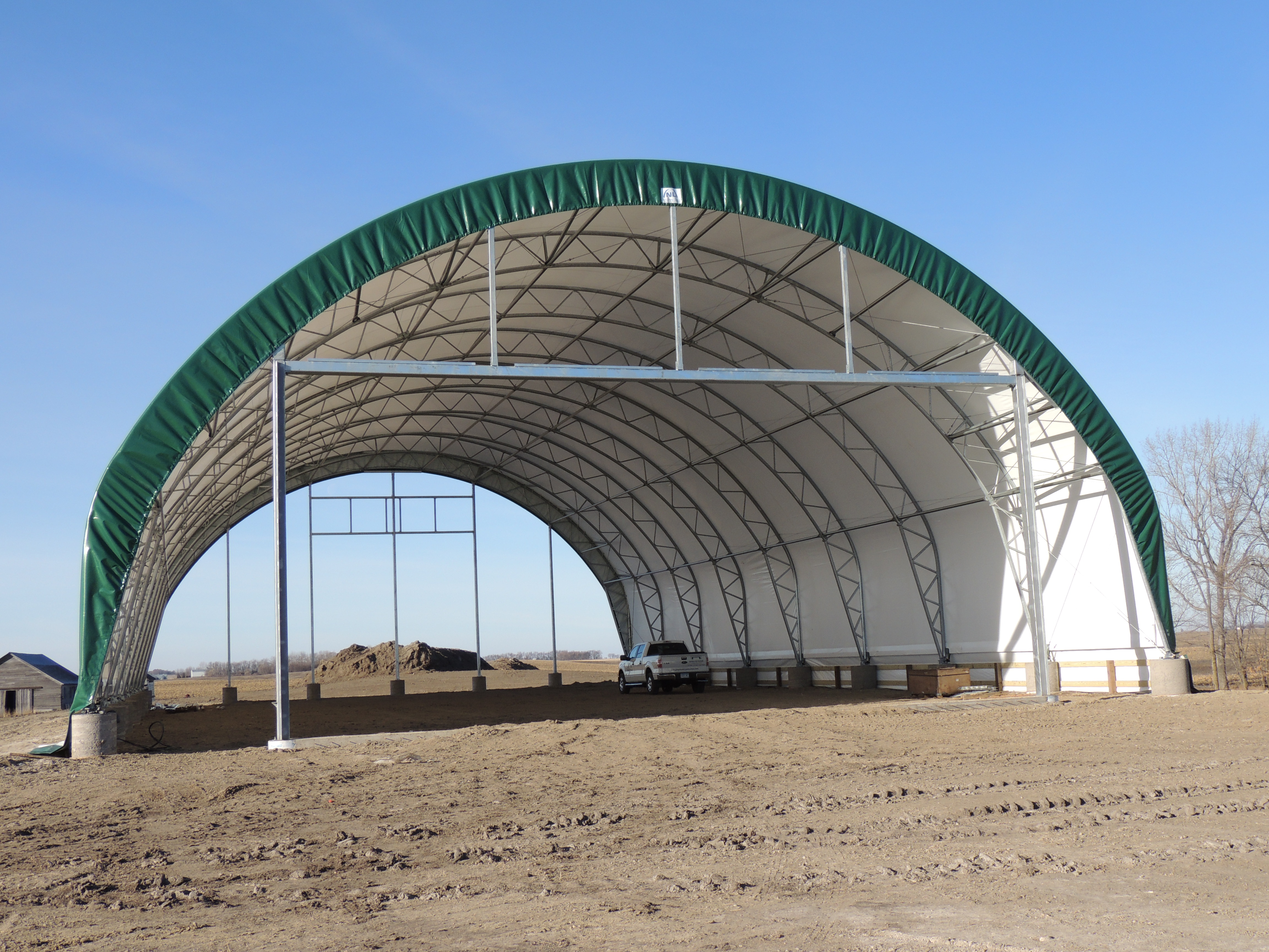 Hay shed construction