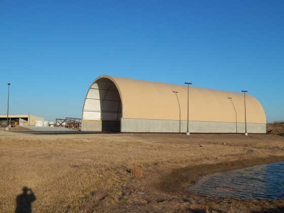 Salt Dome, Salt Domes, Dome Structure, Salt and Sand Storage, Calhoun Building, Fabric Building, Salt Barn