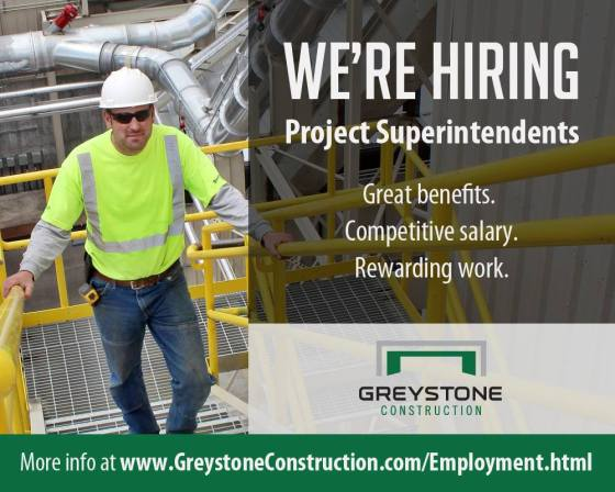 Job Openings, Construction Project Superintendents, Hiring, Commercial and Industrial General Contractor
