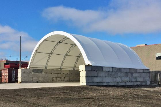 Salt Shed, Salt Storage, Salt Dome, Fabric Building, Hoop Building, Coverall Building